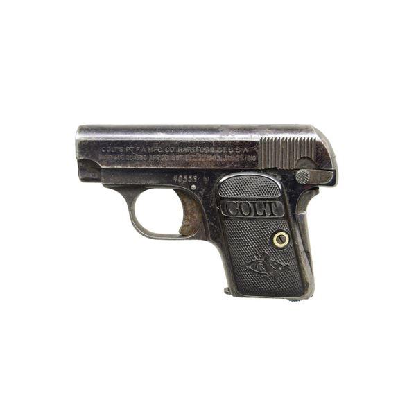COLT M1908 VEST POCKET SEMI AUTO PISTOL.