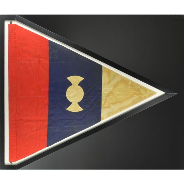 LARGE FRAMED SPANISH AMERICAN 1ST CORPS FLAG.