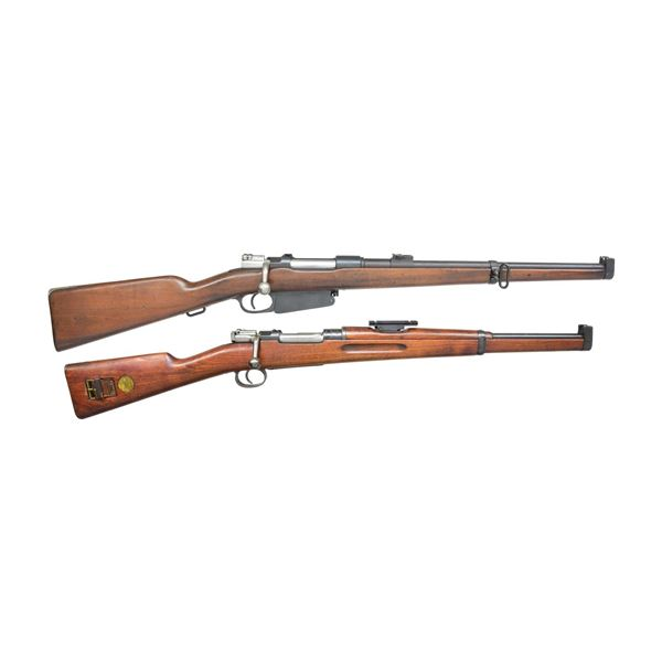2 BOLT ACTION MILITARY CARBINES.