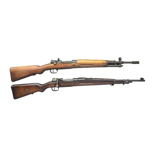2 BOLT ACTION MILITARY RIFLES.