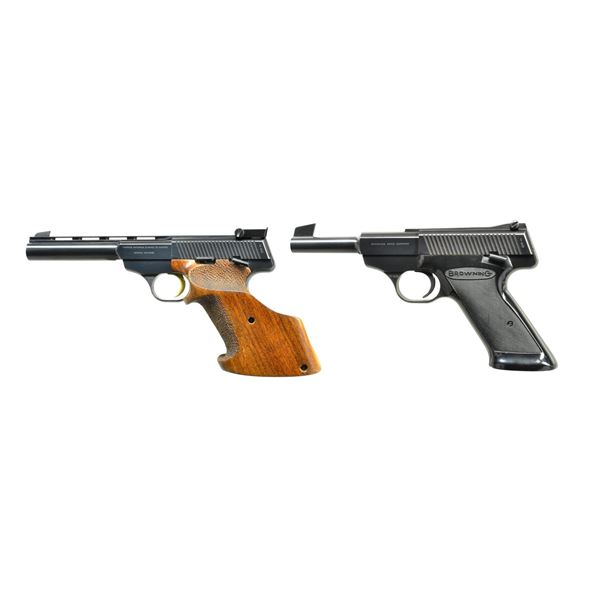 PAIR OF EARLY BELGIAN BROWNING 22LR PISTOLS.