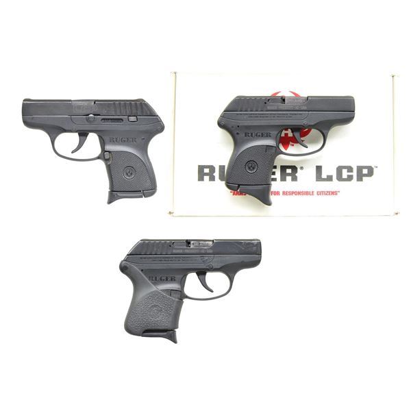 3 RUGER LCP PISTOLS.