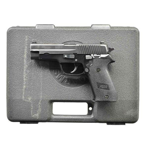 SIG ARMS P220 TDA 45 ACP PISTOL WITH DECOCKER.