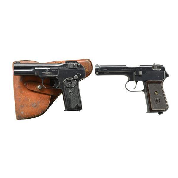 2 EUROPEAN SEMI-AUTO PISTOLS; FN 1900 & CZ VZ 38.
