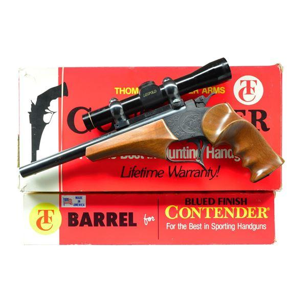 T / C CONTENDER 3 BBL. SINGLE SHOT PISTOL SET.