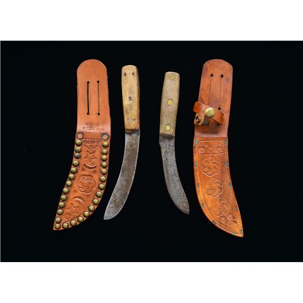PAIR OF SKINNING KNIVES WITH HOWARD COLE CUSTOM