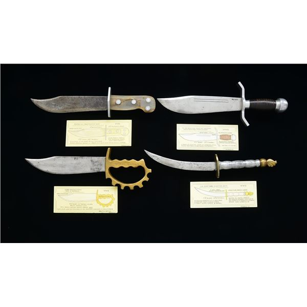 4 THEATER MADE WW2 FIGHTING KNIVES.