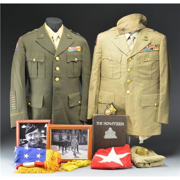 WWII BRIGADIER GENERAL EDWIN HOWARD UNIFORM & FLAG