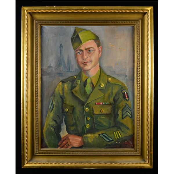 PRE WWI TO WWII PAINTINGS & FRAMED MILITARIA.