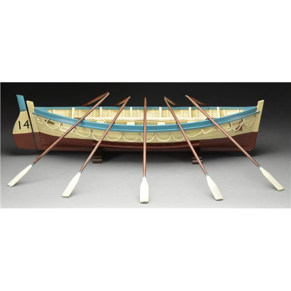 ATTRACTIVE WOODEN MODEL OF LIFE BOAT #14 FROM THE