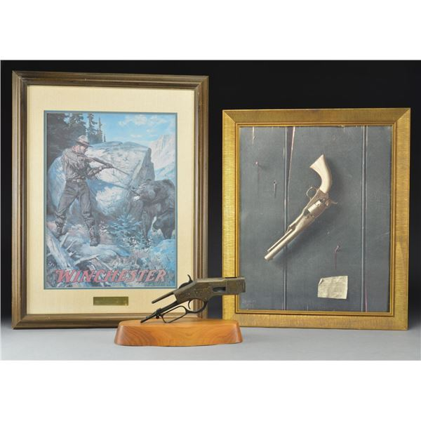 FIREARMS RELATED MATERIAL, MILITARIA & PRINTS.
