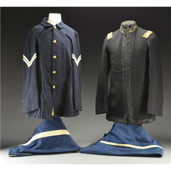 3 LATE 19TH CENTURY US MILITARY UNIFORMS.
