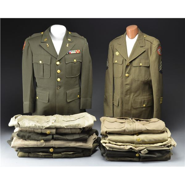 WWII ARMY UNIFORMS & NAVY CHIEF MACHINIST MATE