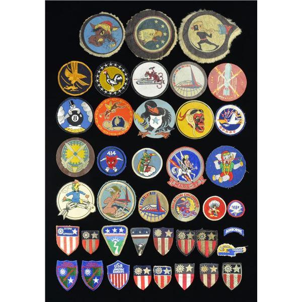 EXTRAORDINARY GROUP OF WWII SQUADRON, UNIT & CBI