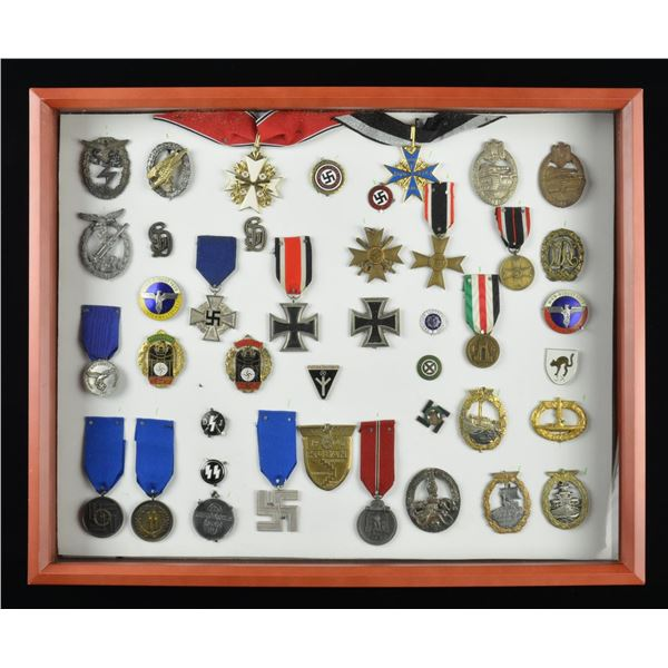 LARGE GROUP OF 42 ORIGINAL & REPRODUCTION WWII