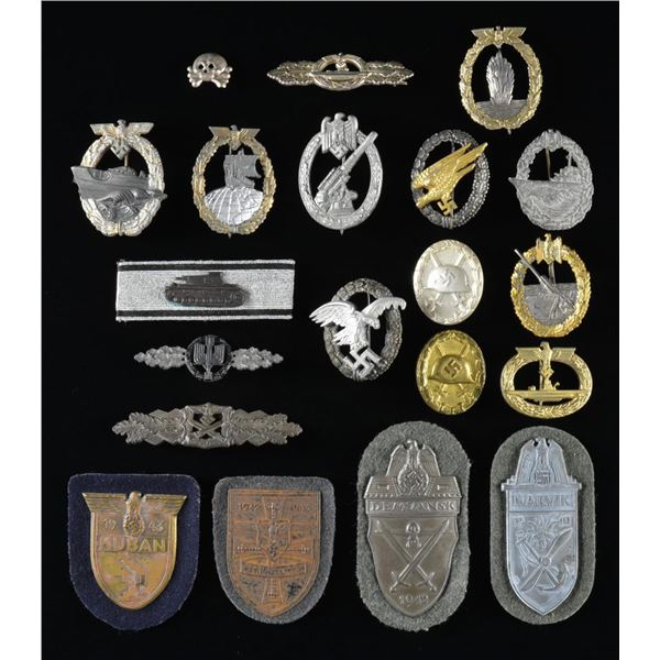 WWII GERMAN BADGES & OTHER AWARDS.