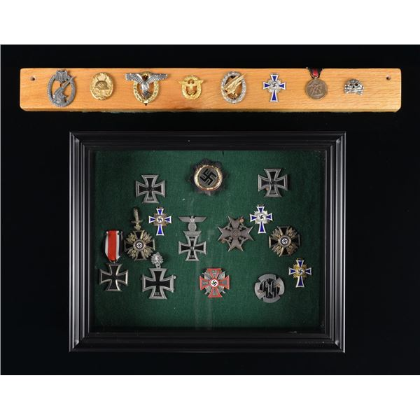 22 ORIGINAL & REPRODUCTION WWII GERMAN MEDALS &