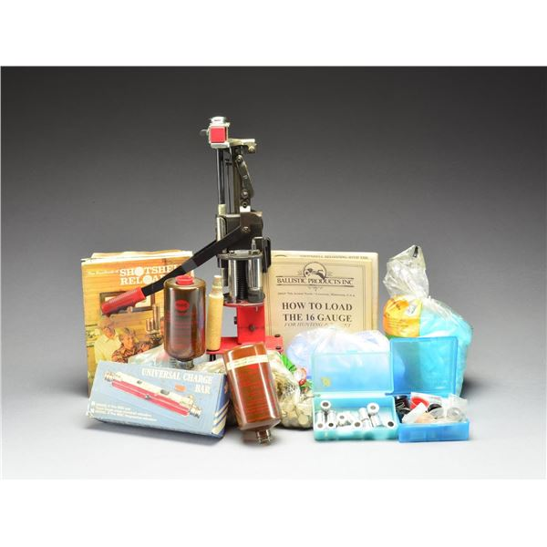 SHOTSHELL RELOADING PRESS WITH BOOKS, COMPONENTS &