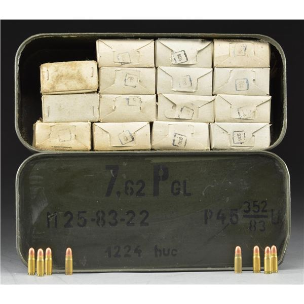 LARGE GROUP OF 7.62 X 25MM MILITARY PISTOL