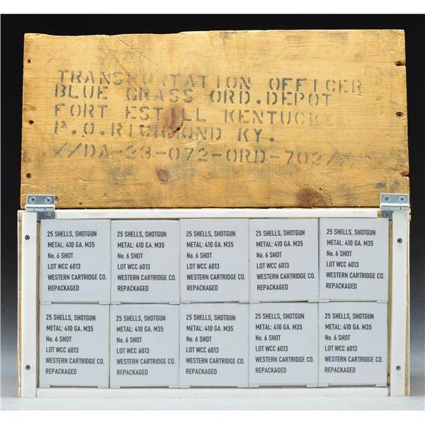 CASE OF 500 MILITARY 410 GAUGE M35 SURVIVAL SHOT