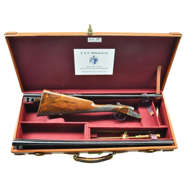 SUBLIME J&L WILKINS 22 RIMFIRE DOUBLE RIFLE WITH