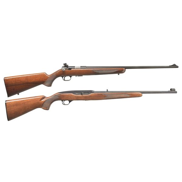 BROWNING T BOLT & WINCHESTER 490 RIFLES.