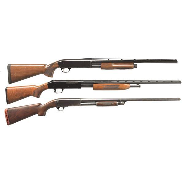 BROWNING, MOSSBERG & REMINGTON PUMP SHOTGUNS.