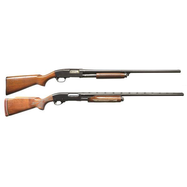 2 REMINGTON 12 GA. PUMP SHOTGUNS.