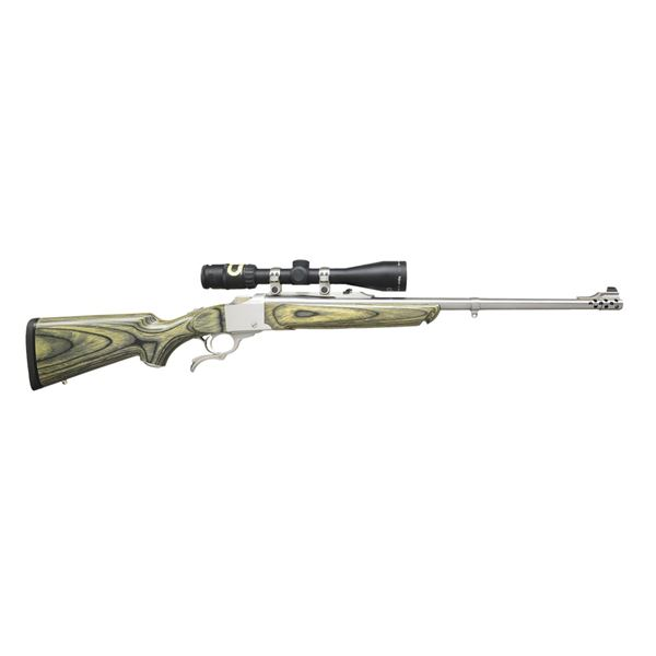 RUGER STAINLESS NO. 1A FALLING BLOCK RIFLE.