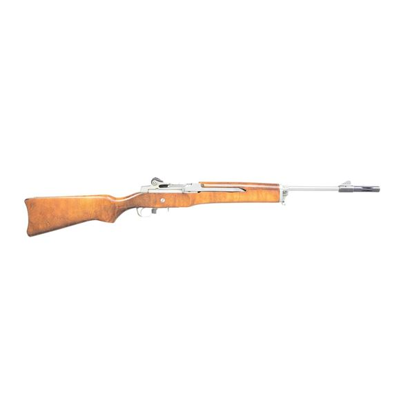 STAINLESS STEEL RUGER MINI 14 RIFLE.