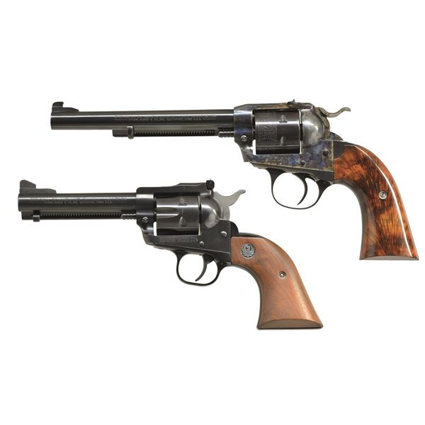 2 RUGER 32 H&R MAG. NM SINGLE SIX REVOLVERS.