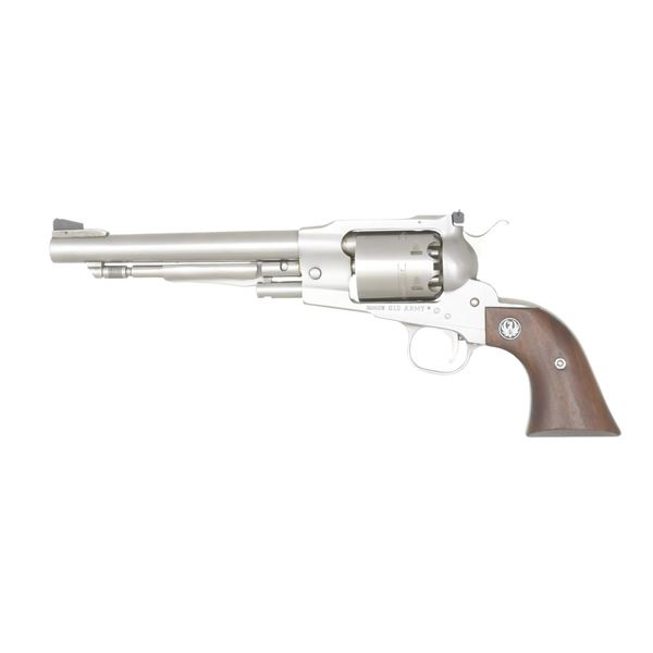 RUGER STAINLESS OLD ARMY REVOLVER.