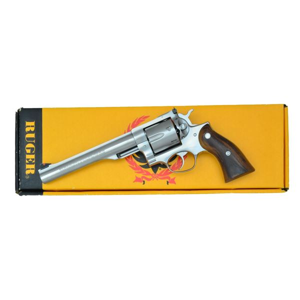 SCARCE RUGER 41 MAG. STAINLESS REDHAWK REVOLVER.