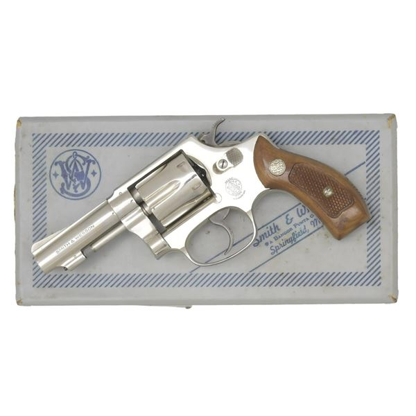 SMITH & WESSON NICKELED MODEL 30-1 REVOLVER.
