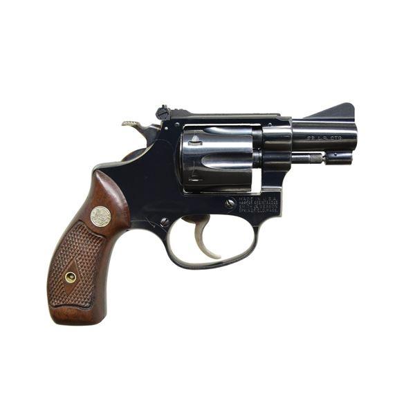 S&W BLUED MODEL 34 KIT GUN REVOLVER.