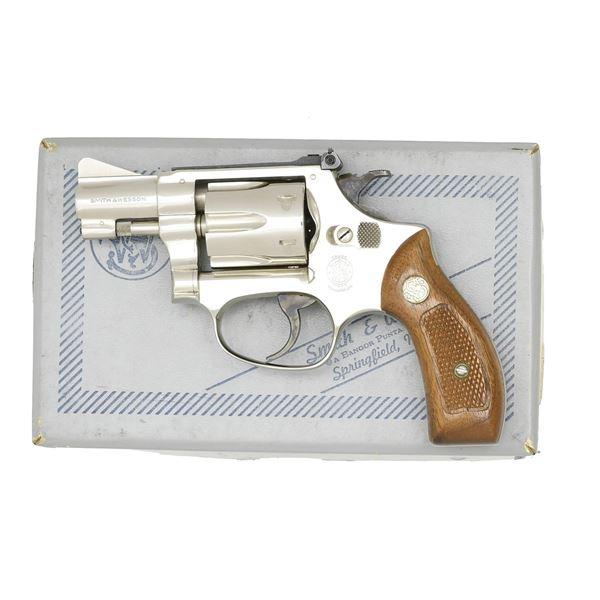 S&W NICKEL MODEL 34-1 KIT GUN REVOLVER.