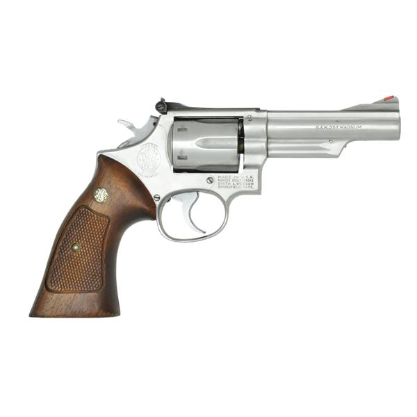 6 SHOT STAINLESS STEEL SMITH & WESSON 357 MAGNUM
