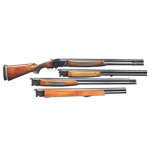 BRNO ZH103 O/U SHOTGUN WITH 3 EXTRA BARRELS.
