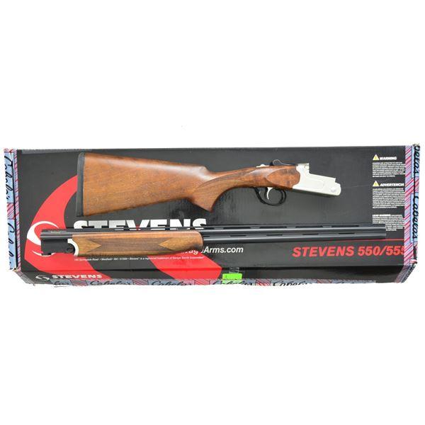 BEAUTIFUL STEVENS MODEL 550 O/U 410 GA. SHOTGUN.