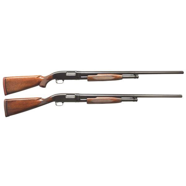2 WINCHESTER MODEL 12 TRAP GRADE PUMP SHOTGUNS.