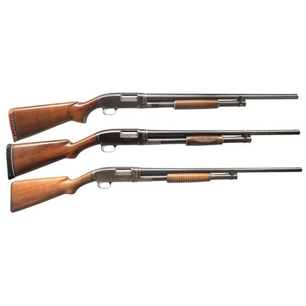 WINCHESTER MODEL 1912 & 12 PUMP SHOTGUNS.