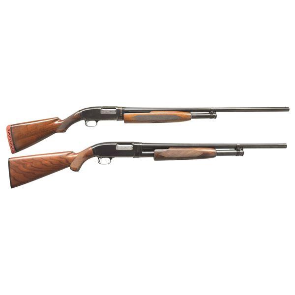 2 WINCHESTER MODEL 12 FIELD PUMP SHOTGUNS.