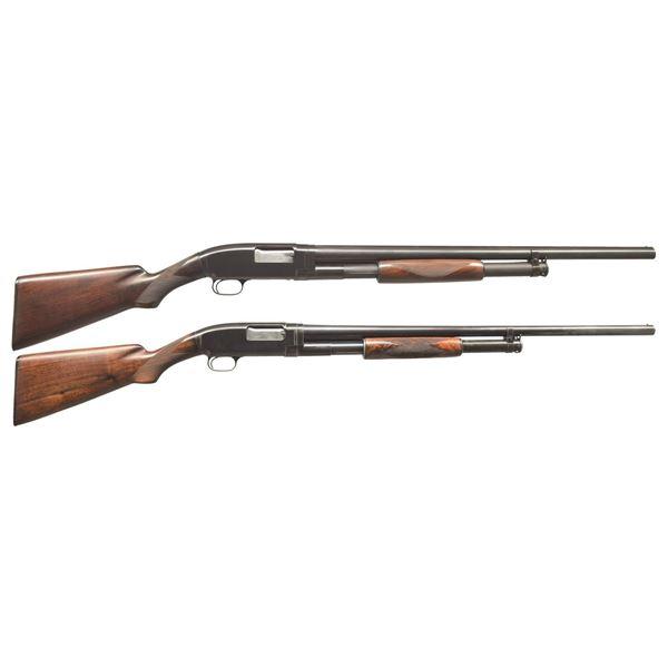 2 WINCHESTER MODEL 12 & 1912 PUMP SHOTGUNS.