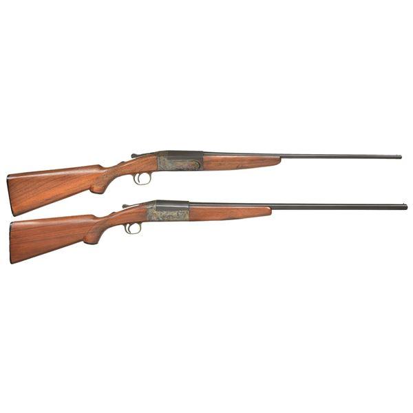 2 LEFEVER LONG RANGE FIELD & TRAP SINGLE SHOTGUNS.