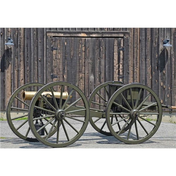 CIVIL WAR BRONZE MOUNTAIN HOWITZER WITH EXTREMELY