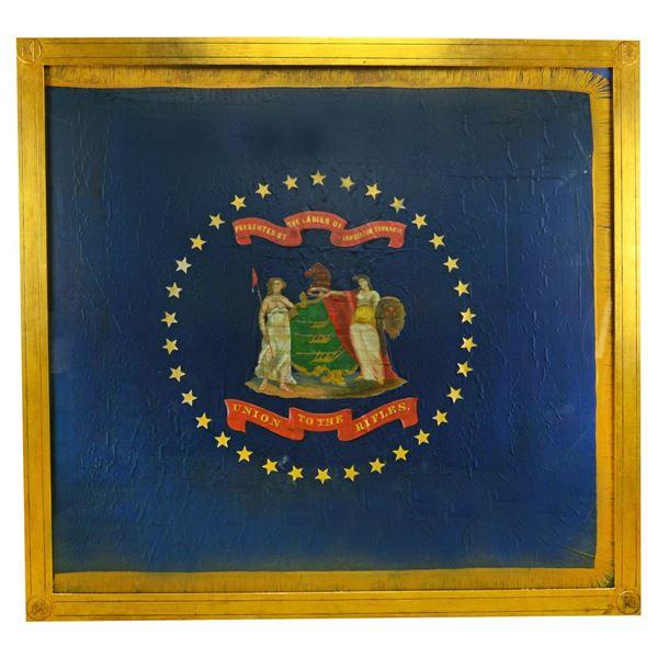 OUTSTANDING CIVIL WAR REGIMENTAL FLAG FOR THE