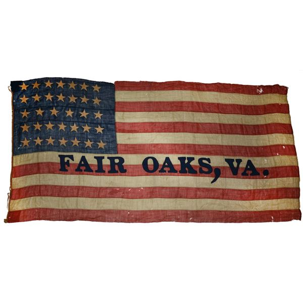 CIVIL WAR 34 STAR FLAG, FAIR OAKS, VIRGINIA.