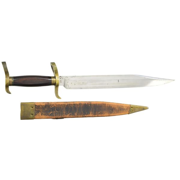 VERY FINE CONFEDERATE BOWIE BAYONET, COOK AND