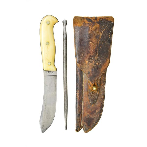 FINE MICHAEL PRICE KNIFE & SHEATH FOR PROMINENT