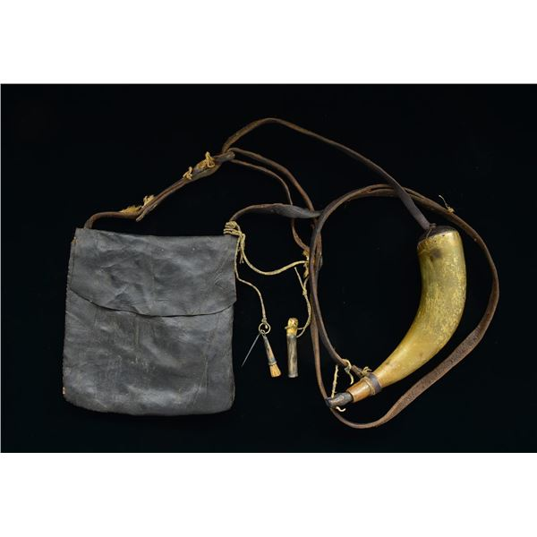 EARLY STYLE AMERICAN POSSIBLES BAG WITH ATTACHED
